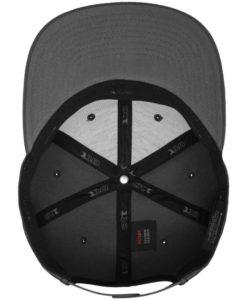 Premium Snapback Cap 110 Dunkelgrau 6 Panel - verstellbar Ansicht innen