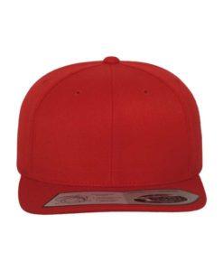 Premium Snapback Cap 110 Rot 6 Panel - verstellbar Ansicht vorne