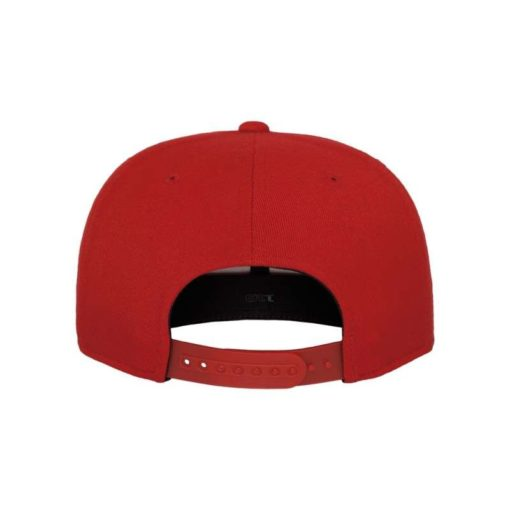 Premium Snapback Cap 110 Rot 6 Panel - verstellbar Ansicht hinten