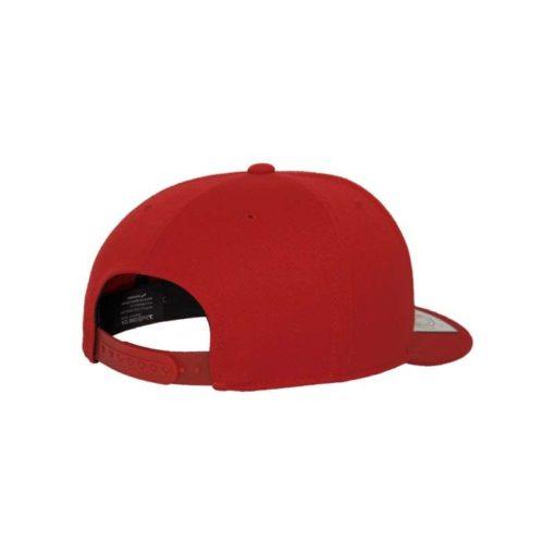 Premium Snapback Cap 110 Rot 6 Panel - verstellbar Seitenansicht hinten
