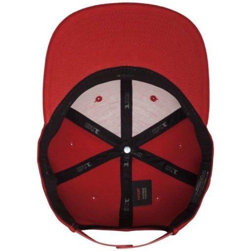 Premium Snapback Cap 110 Rot 6 Panel - verstellbar Ansicht innen