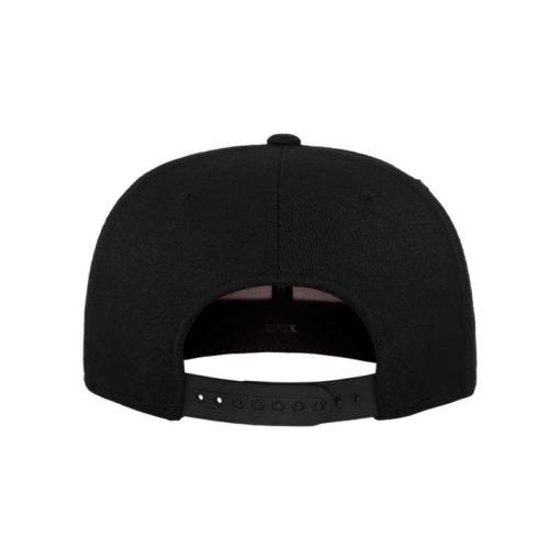 Premium Snapback Cap 110 Schwarz 6 Panel - verstellbar Ansicht hinten