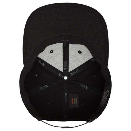Premium Snapback Cap 110 Schwarz 6 Panel - verstellbar Ansicht innen