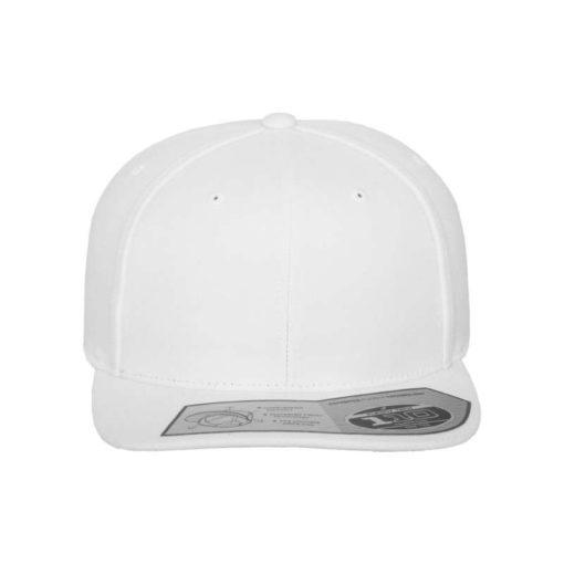 Premium Snapback Cap 110 Weiß 6 Panel - verstellbar Ansicht vorne
