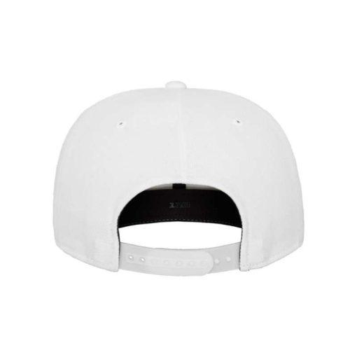 Premium Snapback Cap 110 Weiß 6 Panel - verstellbar Ansicht hinten