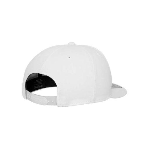 Premium Snapback Cap 110 Weiß 6 Panel - verstellbar Seitenansicht hinten
