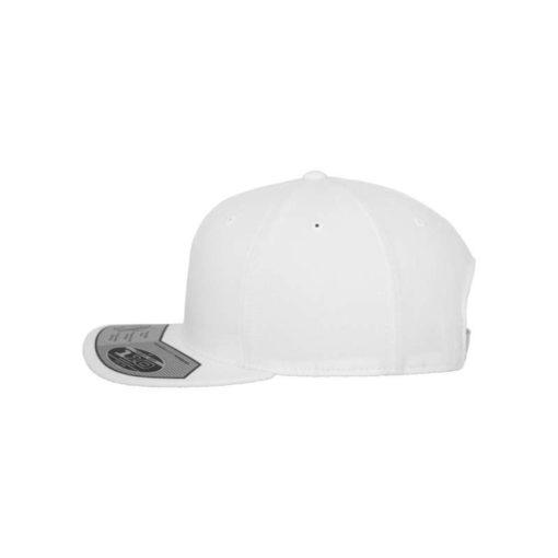 Premium Snapback Cap 110 Weiß 6 Panel - verstellbar Seitenansicht links