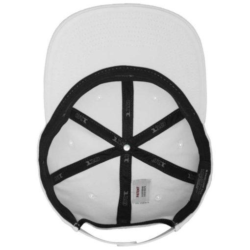 Premium Snapback Cap 110 Weiß 6 Panel - verstellbar Ansicht innen