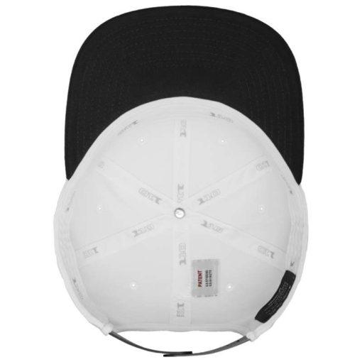 Premium Snapback Cap 110 Weiß/Schwarz 6 Panel - verstellbar Ansicht innen