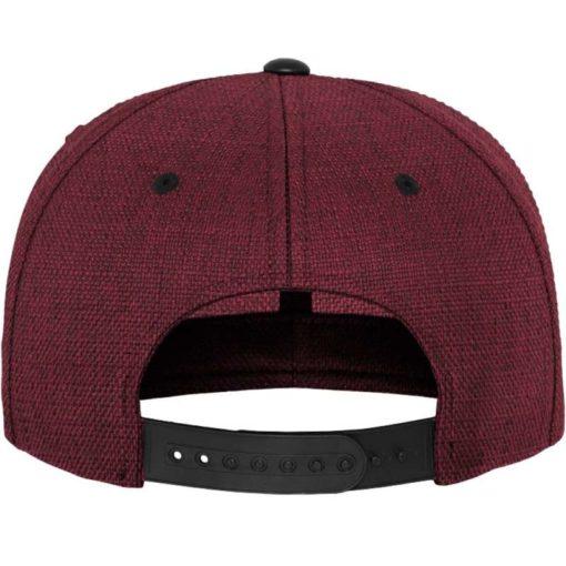 Premium Snapback Cap Melange Rotmeliert/Schwarz 6 Panel - verstellbar Ansicht hinten