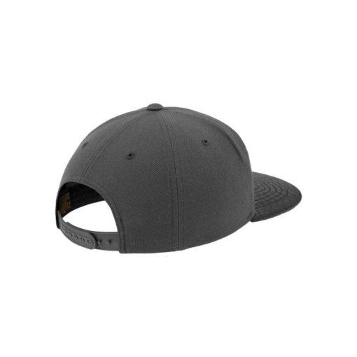 Snapback Cap Arch Dunkelgrau/Krokodilleder Schwarz 6 Panel - verstellbar Seitenansicht hinten