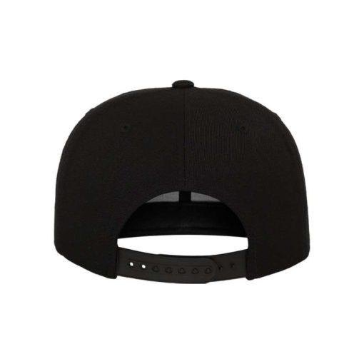 Snapback Cap Bandana Schwarz - verstellbar Ansicht hinten
