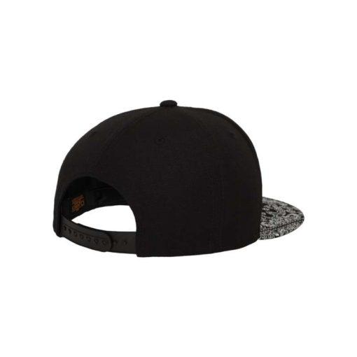 Snapback Cap Bandana Schwarz - verstellbar Seitenansicht hinten