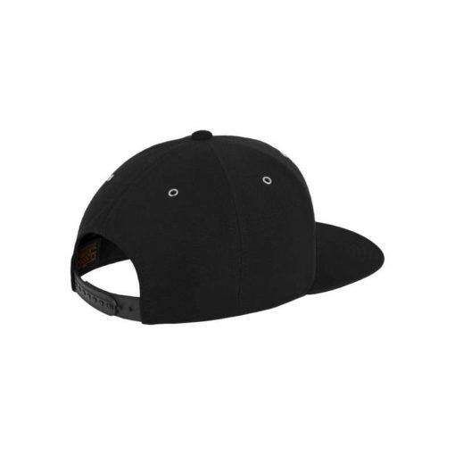 Snapback Cap Boots Suede Schwarz/Wildleder Schwarz 6 Panel - verstellbar Seitenansicht hinten