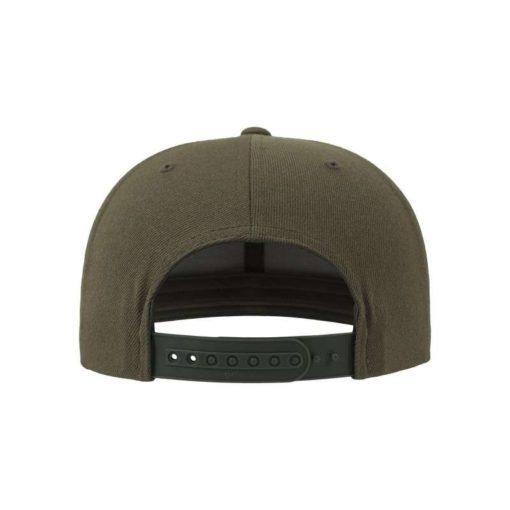 Snapback Cap Camo Olive 6 Panel - verstellbar Ansicht hinten