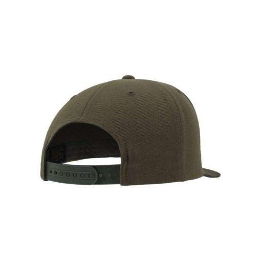 Snapback Cap Camo Olive 6 Panel - verstellbar Seitenansicht hinten