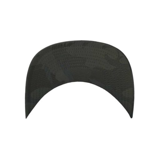 Snapback Cap Camo Olive 6 Panel - verstellbar Schild