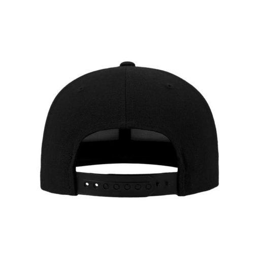 Snapback Cap Camo Schwarz 6 Panel - verstellbar Ansicht hinten