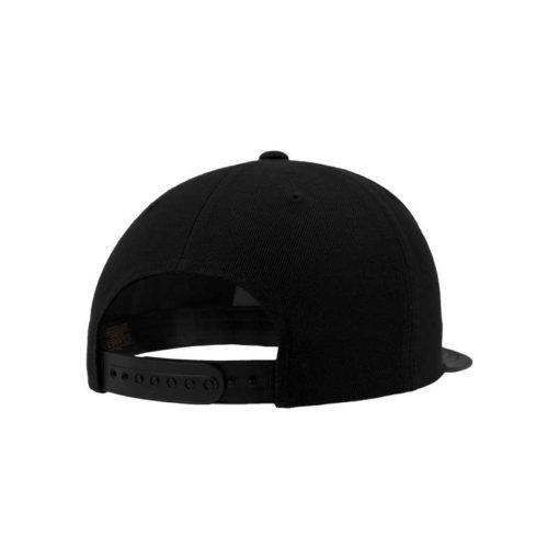 Snapback Cap Camo Schwarz 6 Panel - verstellbar Seitenansicht hinten