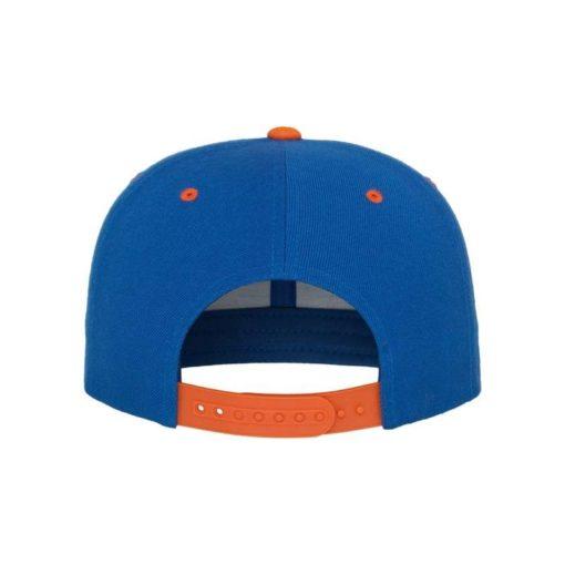 Snapback Cap Classic Blau/Orange 6 Panel - verstellbar Ansicht hinten