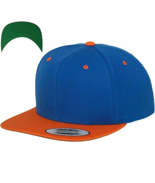 snapback-cap-classic-blauorange-6-panel-verstellbar