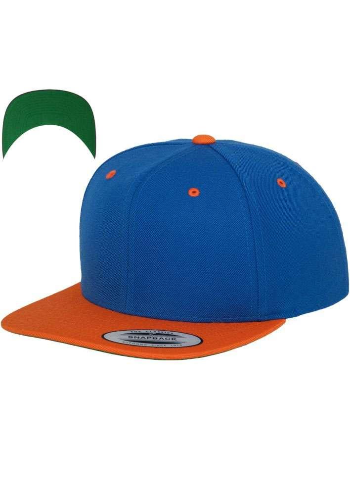 premium snapback cap classic blau orange 6 panel. Black Bedroom Furniture Sets. Home Design Ideas