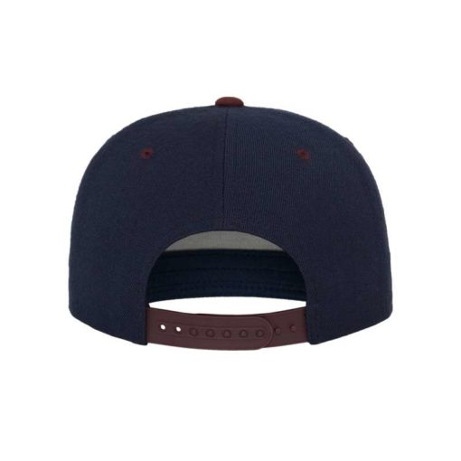 Snapback Cap Classic Dunkelblau/Dunkelrot 6 Panel - verstellbar Ansicht hinten