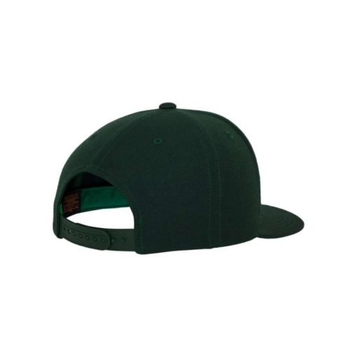 Snapback Cap Classic Dunkelgrün 6 Panel - verstellbar Seitenansicht hinten