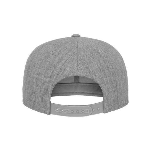 Snapback Cap Classic Graumeliert 6 Panel - verstellbar Ansicht hinten