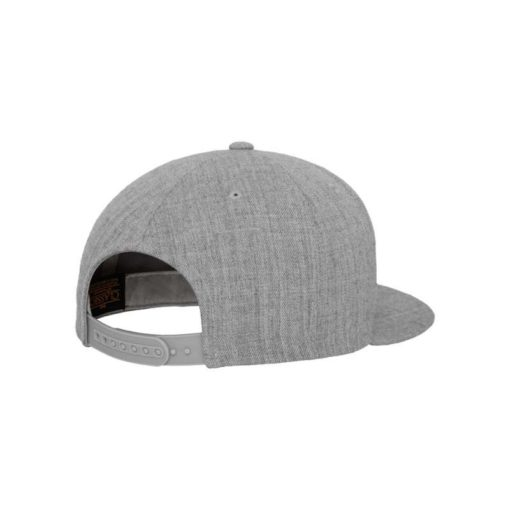 Snapback Cap Classic Graumeliert 6 Panel - verstellbar Seitenansicht hinten