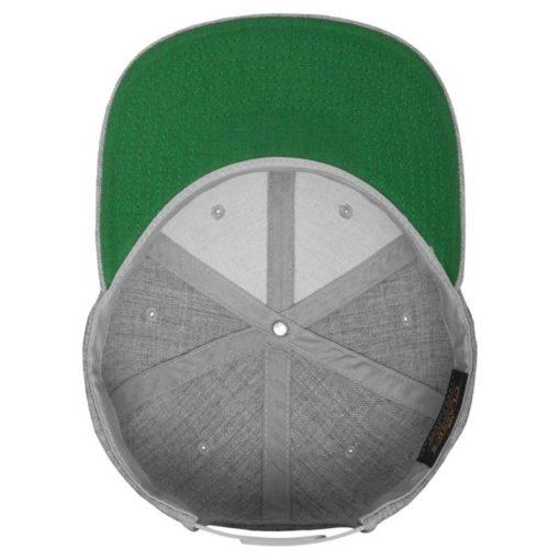 Snapback Cap Classic Graumeliert 6 Panel - verstellbar Ansicht innen