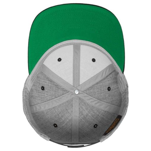 Snapback Cap Classic Graumeliert/Blau 6 Panel - verstellbar Ansicht innen