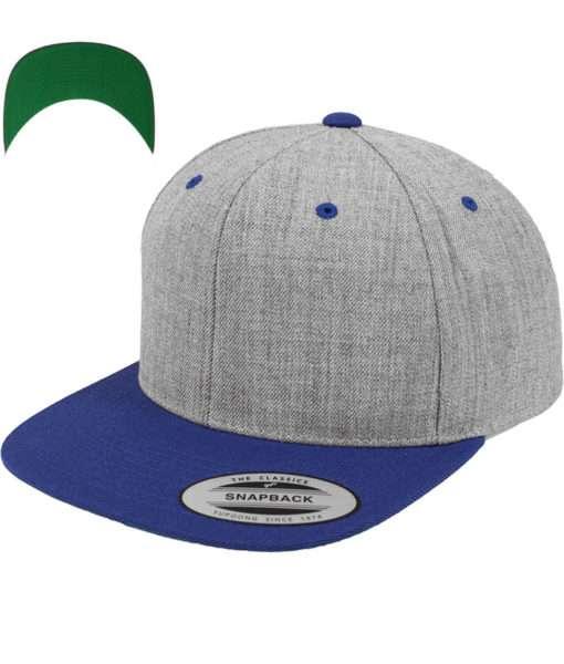 snapback-cap-classic-graumeliertblau-6-panel-verstellbar