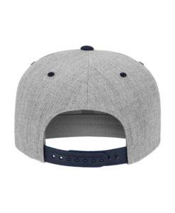 Snapback Cap Classic Graumeliert/Dunkelblau 6 Panel - verstellbar Ansicht hinten