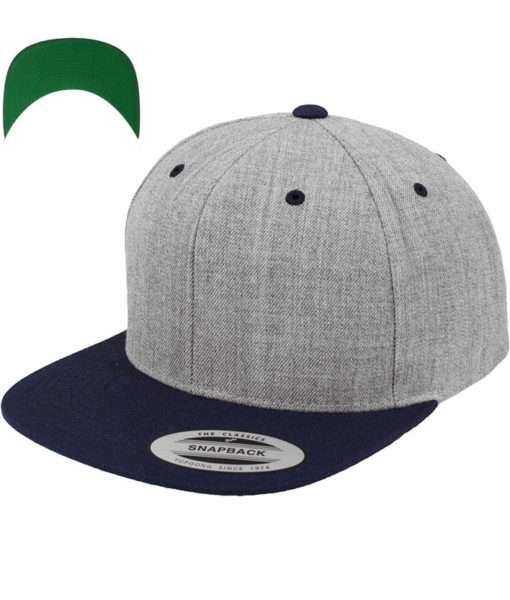 snapback-cap-classic-graumeliertdunkelblau-6-panel-verstellbar