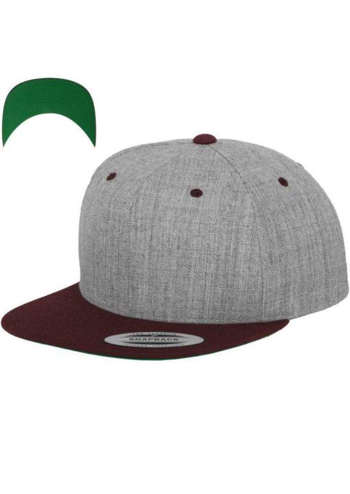 snapback-cap-classic-graumeliertdunkelrot-6-panel-verstellbar