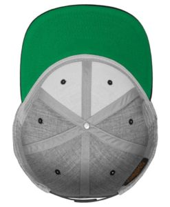 Snapback Cap Classic Graumeliert/Rot 6 Panel - verstellbar Ansicht innen