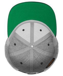 Snapback Cap Classic Graumeliert/Lila 6 Panel - verstellbar Ansicht innen
