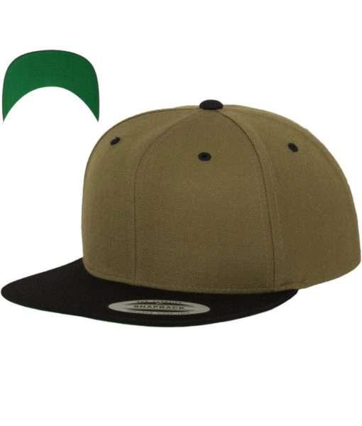 snapback-cap-classic-oliveschwarz-6-panel-verstellbar