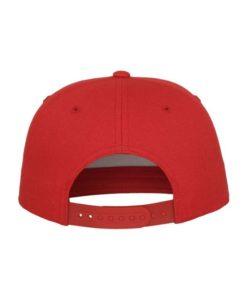 Snapback Cap Classic Rot 5 Panel - verstellbar Ansicht hinten