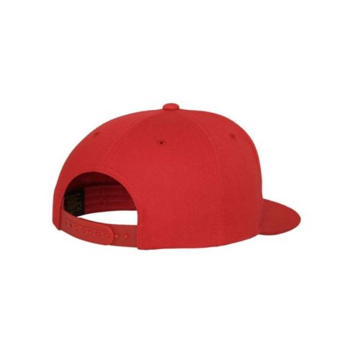 Snapback Cap Classic Rot 5 Panel - verstellbar Seitenansicht hinten