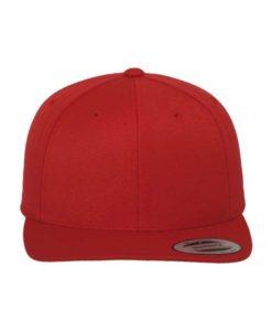 Snapback Cap Classic Rot 6 Panel - verstellbar Ansicht vorne