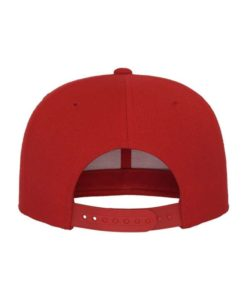 Snapback Cap Classic Rot 6 Panel - verstellbar Ansicht hinten