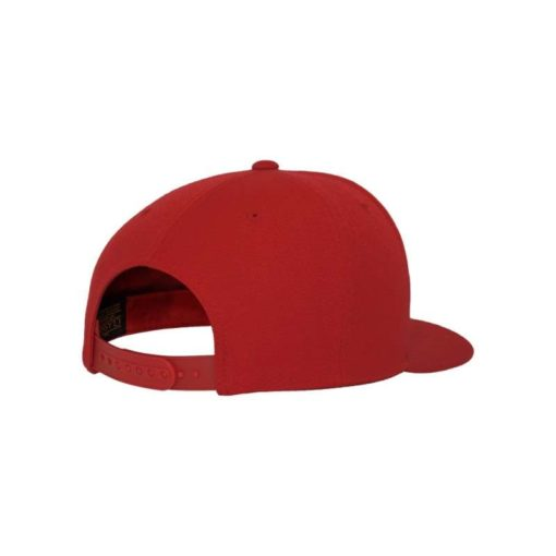 Snapback Cap Classic Rot 6 Panel - verstellbar Seitenansicht hinten