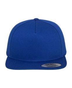 Snapback Cap Classic Royalblau 5 Panel - verstellbar Ansicht vorne