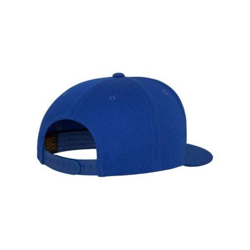 Snapback Cap Classic Royalblau 5 Panel - verstellbar Seitenansicht hinten