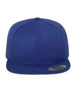 Snapback Cap besticken - Snapback Cap Classic Royalblau 6 Panel verstellbar vordere Ansicht