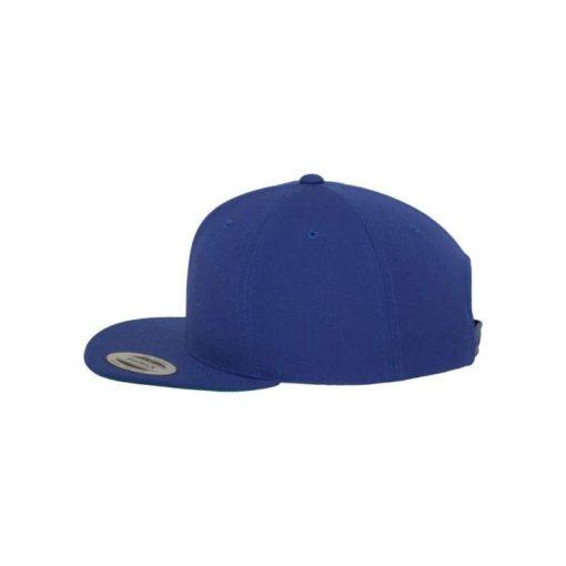 Snapback Cap besticken - Snapback Cap Classic Royalblau 6 Panel verstellbar linke Ansicht