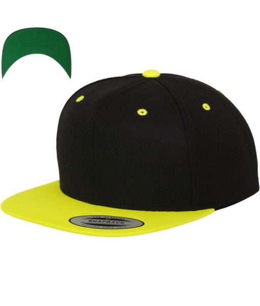 snapback-cap-classic-schwarzneongelb-6-panel-verstellbar