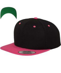 snapback-cap-classic-schwarzneonpink-6-panel-verstellbar